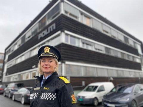 TUNG KRIM: Ida Melbo Øystese bruker 40 prosent av sine ressurser på tre prosent av kriminaliteten som skjer i politidistriktet.