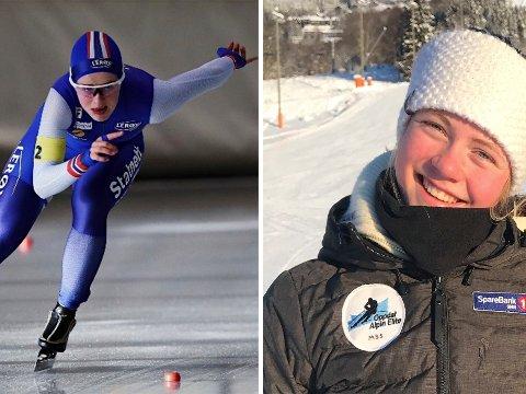 TIL UNGDOMS-OL: Julie Berg Sjøbrend (t.v.) og  Malin Sofie Sund (t.h.) gikk i samme klasse på Hakadal ungdomsskole. I januar 2020 skal begge til Ungdoms-OL i Lausanne i Sveits.
