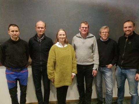 NYVALGT:Styret i Nitelva Elveforum; f.v. Knut Olufsen, Knut Holager, Randi Bang, Hans Martin Monrad-Haslum, Karl Jan Aarnes og Anders Nermoen.