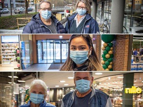 PÅBUD: De Varingen møtte på Mosenteret onsdag var positive til munnbindpåbud.