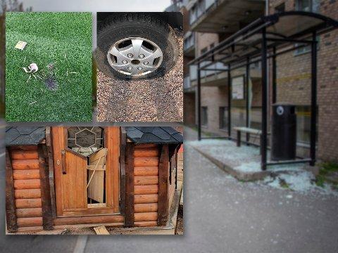 HÆRVERK: I løpet av våren har det vært flere tilfeller av hærverk i Nittedal.