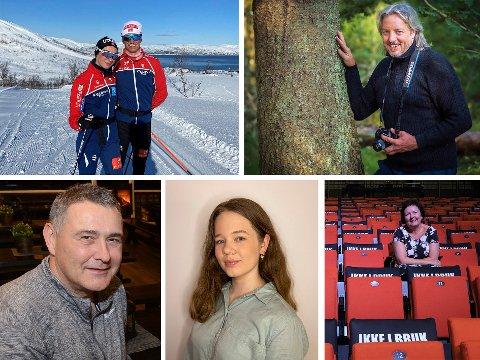 OPTIMISME: Lars Hjelmeset gleder seg til konkurranser for alle, og Kai Jensen ser frem til å det lokale utelivet kan åpne. Det samme gjør Per Ole Thorsen. Milla Skaug ødegård vil dra tilbake til byen hun studerer i, nemlig London. Mariann Torsvik har abstinenser for live kulturopplevelser.
