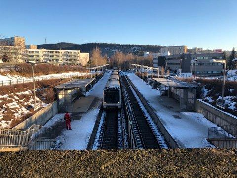 STENGT I SENTRUM: T-banen går ikke mellom Stortinget og Majorstua denne weekenden.