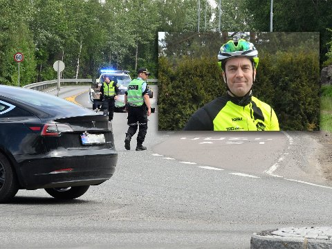KJENT PROBLEM-STED: – Overgangen over Brennaveien kommer fort på når man er på i gang- og sykkelfeltet på vei ned bakken fra Gjelleråsen. Og for bilistene kan det være vanskelig å få oversikt over syklister som kommer ned på innsiden av veibanen på høyre side, sier styreleder Johan Conradson i CK Nittedal.