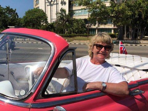 CUBA MARS 2018: Aaste er veldig glad i å reise. – I mange år seilte hun på de syv hav som stuepike med Höegh, forteller storesøster Ane.