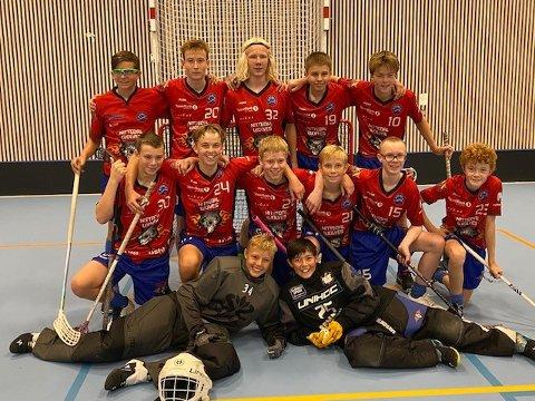VANT STORT: 14-årslaget til NIL Wolves utklasset Ull/Kisa i serieåpningen i innebandy.