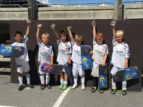 HSV SOON SHARKS: Fra venstre; Maxi, Felix, Martin, Alexander, Marius og Stinius.