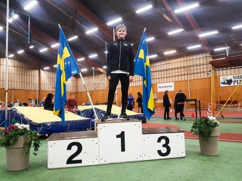 TIL TOPPS: Even Bolle (12) var suverent best blant kulestøterne da flere norske og svenske friidrettsidrettskretser var samlet til stevne i helgen.