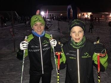 Nichlaas Øveraasen og Sigurd Stubberud sikret Soon Skiklubb dobbelt seier i G13-klassen i Skikarusellen.