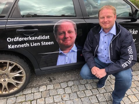 TIL KAMP MOT FORRAKTEN: Kenneth Lien Steen går til kamp mot de som sjikanerer og slenger dritt om politikere i sosiale medier.
