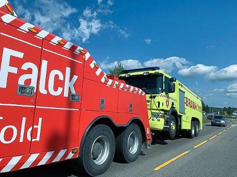 MOTORSTOPP: På en utrykning lørdag fikk den ene av Vestby brannvesens to biler motorstopp.