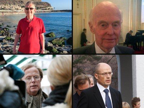 Med klokken fra venstre: Ivar Løge, Fred Olsen, Petter Olsen og Jan Nagell-Erichsen