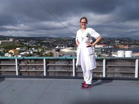 Fra mars til august jobbet Andrea Enerstad Bolle på sykehuset i Torshavn.