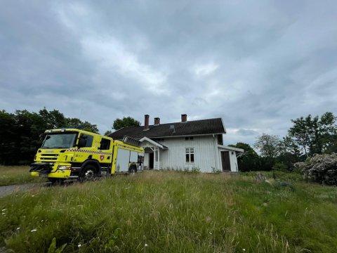 ØVELSE: Mange reagerte på storutrykning fra brannvesenet i Vestby sentrum mandag.