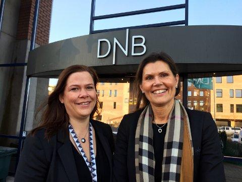 - Gledelig å registrere at bedriftene i Vestfold har god tro på året som kommer, sier DNB- banksjefene Hanna Kirsebom Aronsen (t.h.) og Hege Grytnes Støldal.