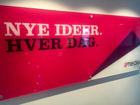"""""""Nye ideer. Hver dag"""" er mottoet for Amedias annonseproduksjon i Tønsberg."""