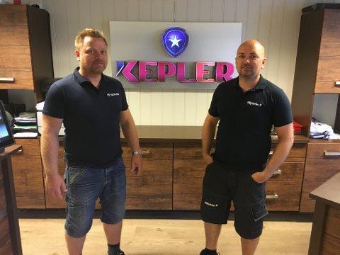 FUSJONERER: Joakim Larsen blir daglig leder i det nye selskapet, mens Truls Bakke blir assisterende daglig leder.