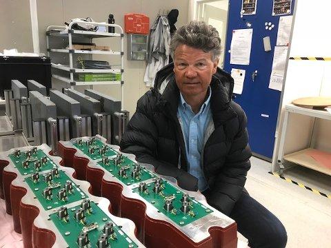 EKKOLODD: Innstøpt avansert elektronikk for krevende forhold er noe av det Fosstech satser på, sier daglig leder Steven Foss.