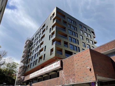 SNART INNFLYTTING: Leilighetsprosjektet Kremmerhuset Panorama begynner å nærme seg ferdig.