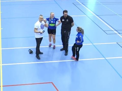 FORNØYD: Det var fornøyde fjes etter kampen mot Flå/Lundamo. Fra Venstre: Per Magne Moen, Ingrid Sivertsvold, Mats Sigvartsen og Anna Lian.