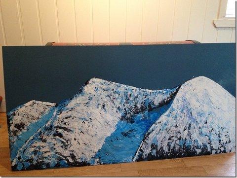 FJELL: Temaet for årets kunstutstilling i Waldemars hus er «fjell».