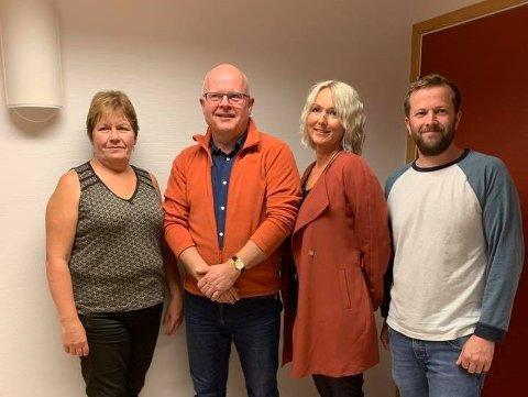 SAMARBEID: Ragnhild Kjørmo (Frp), Hogne Skjerpe (H), Gro Helleland (KrF) og John-Arvid Eik (V) har blitt enige om et samarbeid.