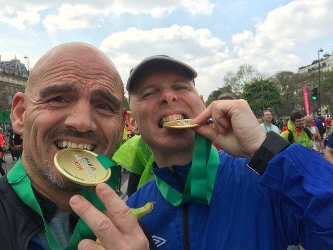 Mon tro om medalja smakte godt etter fleire timer med springing.