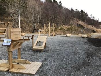 Treningsparken som lages på Tverlandet ligner på den på Rønvikfjellet.