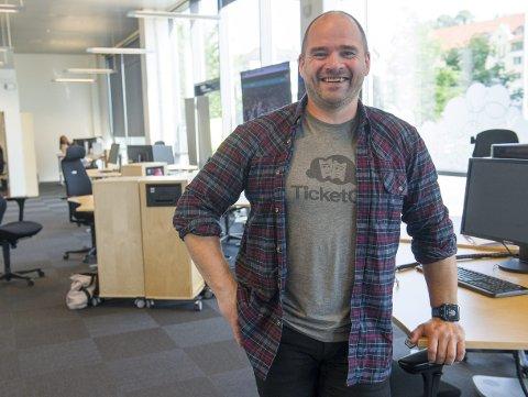 Ticketco-gründer Kåre Bottolfsen opplever at selskapet er i medgang for tiden.