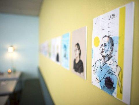 Utstillingen består av portretter Legreid har tegnet de siste fire årene.