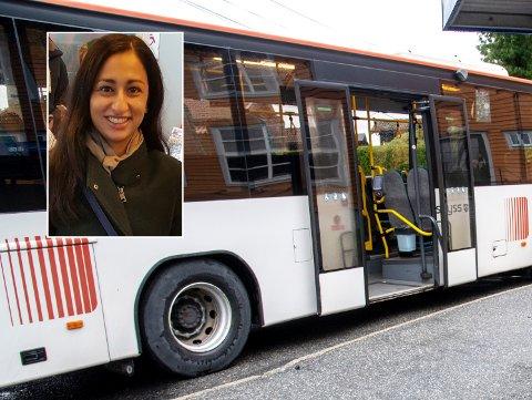 Robina Nazir Haugland reagerer på oppførselen til en sjåfør som nektet å kjøre bussen videre mandag morgen.