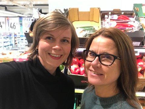 SKREV BOK: Astrid Bjerkås (t.v.) og Gro Haarklou Mathisen har skrevet boken «Bra Mat», der de oppsummerer hva forskerne nå mener et godt kosthold.
