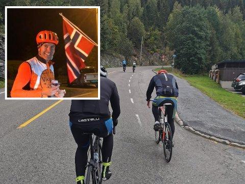 Denne bakken i Mjøndalen tok Jan Kristian Haugnæss (41) 14 timer å forsere - 35 ganger.