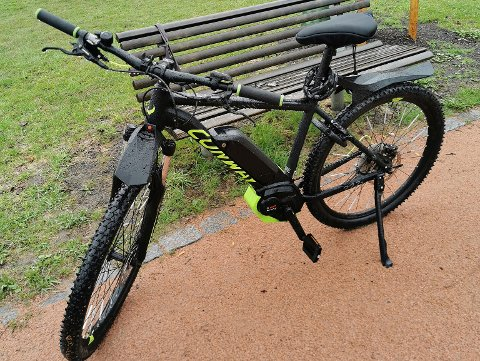 Bjørn Solum tok dette bildet av sykkelen i Engene Park, og la ut på Elsker Drammen.