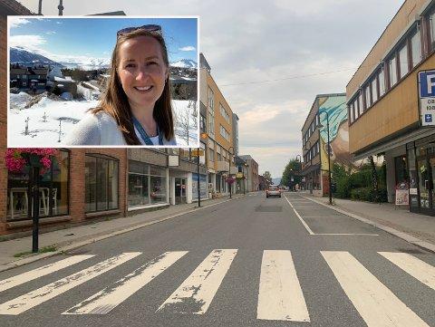 TØRT: Meteorologen Pernille Borander tror ikke været kommer til å ødelegge noe for moroa i Mjøndalen denne helgen.