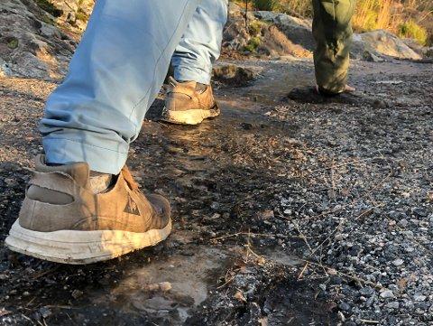 Frosten er komen no i november og det er stadvis glatt i trimløypene i åsane.