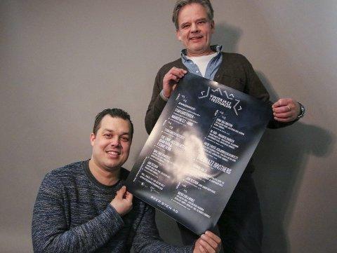 Tredje gang: Ingar Guttormsen (øverst) og Ole-Henrik Mohn Pettersen lover et godt vinterjazzfestival-program i mars. De hadde håpet å få mer enn 30.000 kroner av kommunen til arrangementet som har et budsjett på 520.000 kroner.Foto: Thomas Hörman Arntsen