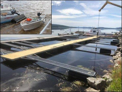 SOMMEREN REDDET: Båtsesongen på Strand brygge fikk en dramatisk slutt i fjor. Det siste året har en splitter ny brygge vokst fram.