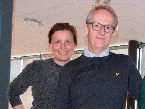 SER LYS I TUNNELEN: Det er tøffe tider for lokalt næringsliv, men en fersk rundspørring tyder på at optmismen stiger igjen, slår styremedlem Stine Lilleseth i 7Sterke og klyngekleder Jan Egil Melby fast.