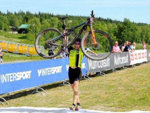 Jeanette Persson fra Nitttedal var helt suveren og kunne spasere over målstreken.