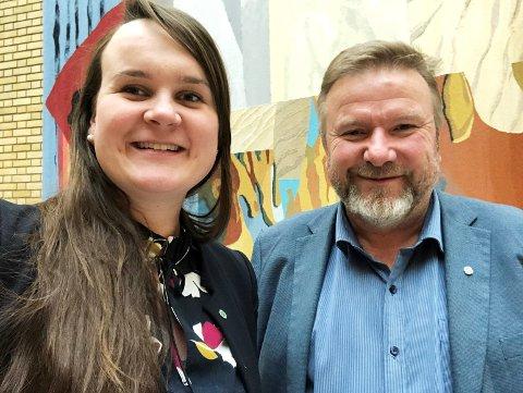 STOR OPPSLUTNING: Marit Knutsdatter Strand og Bengt Fasteraune er klare for fire nye år på Stortinget