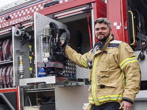 ØVELSE: Leder beredskap/ varabrannsjef i Lunner - Gran brann og redning, Per Ansgar Østby, har øvelse i Søndre Ålsveg i dag, torsdag.