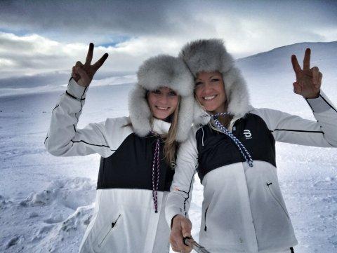 KLARE TIL START: Ann-Karin Huseby (29) og Hilde Hoff Nordskar (35).