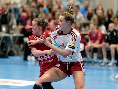 Julie Gantzel i kamp mot Marit Malm Frafjord.