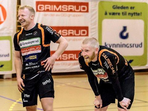 MÅLFARLIG DUO: Trym Bilov-Olsen og Victor Skillhammar har totalt scoret 70 mål på fem kamper i eliteserien så langt.