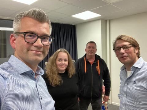 Henrik Diskerud Meyer gjestet denne episoden av Wiels plass. Her sammen med Trine Høistad, Trond Henriksen og Ole Richard Holm-Olsen.
