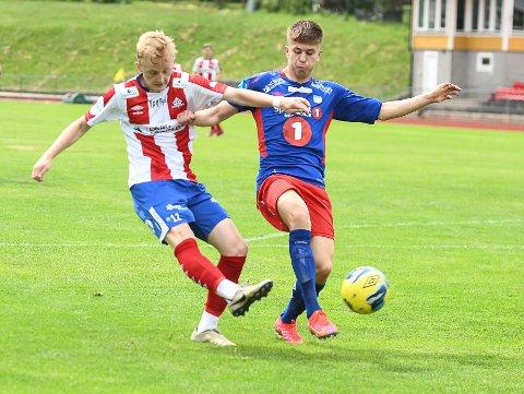 KLASSEDEBUT: Oliver Thomassen (født 2004) noterte både scoring og målgivende pasning i sin offisielle A-lagsdebut for Kvik Halden.