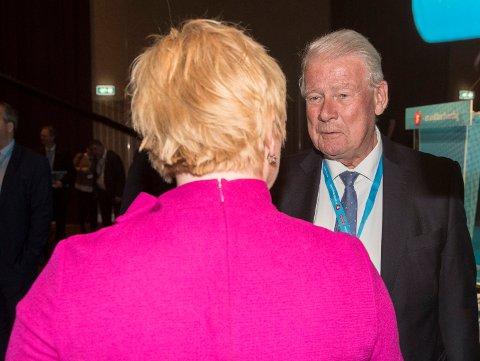 Carl I. Hagen sier han forventer at Frp-leder Siv Jensen trekker partiet ut av regjering dersom Norge tar imot nye flyktninger som har kommet til Europa over Middelhavet. Foto: Vidar Ruud / NTB scanpix