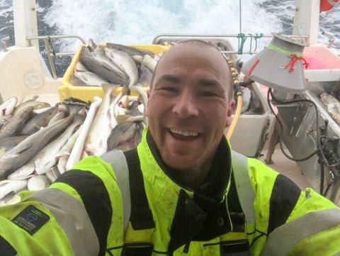 GLAD FISKER: Stig Werner Einvik er glad fisker fra Porsanger.