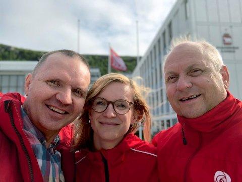Fra høyre: Kurt Methi, Kaia Charlotte Fagerhaug og Jan Tore Kvalnes